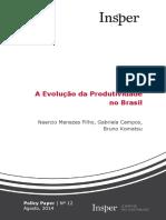 Evolucao Produtividade Brasil