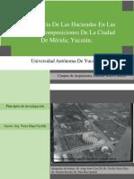 Como se dio el crecimiento de la colonias en la ciudad de Mérida debido a las haciendas