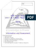 Music Performance Unit 12 VCE Document