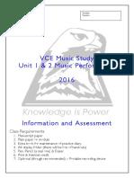 Music Performance Unit 12 VCE Document