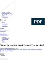 Motion for stay, 9th Circuit Order, 9 February 2017 | Standing (Law) | Due Process.pdf