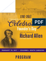 7th Episcopal District Founders Day Program- 2017