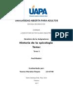 Historia de La Psicologia Unidad 6