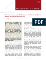The Iran Nuclear Deal - The Iranian and US Domestic Factors