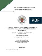 Analisis Comparativo de Tres Metodos de Registro de La RC y La Axiografia
