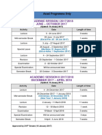 Academic Sessions 2017-2018
