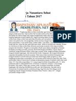 Lowongan Kerja Nusantara Sehat KEMENKES Tahun 2017