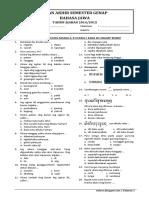 UAS 2 - Bahasa Jawa Kls 3