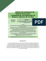 Normativas de Evaluación de Carácter Físico Para ATLETAS de TKDO - 14 AÑOS