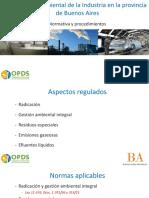 Regulación Ambiental de La Industria en La Provincia de Buenos Aires - Mar Del Plata 2013