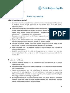 Artritis reumatoide pdf 2020