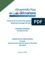 Presupuesto 2016 PDF Cali Colombia