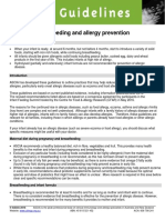 ASCIA Guidelines Infant Feeding and Allergy Prevention