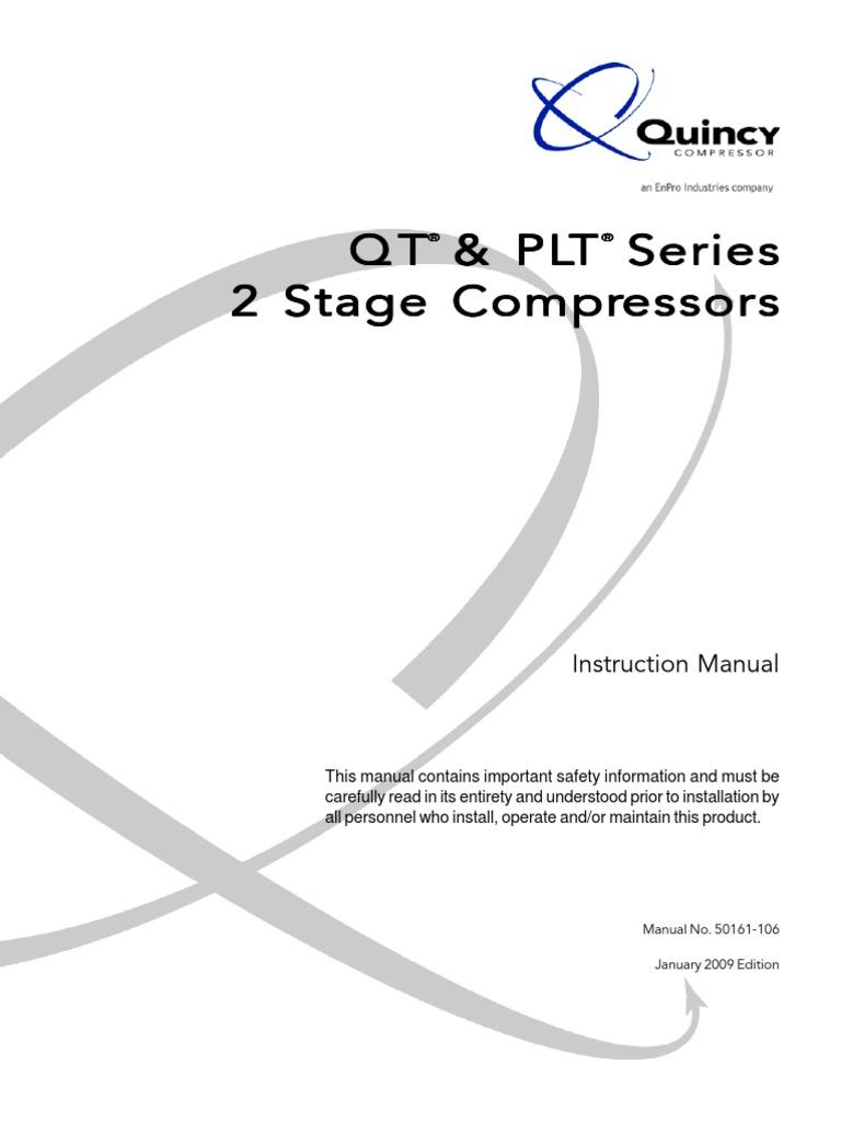 quincy compressor help 791326101846_install.pdf   Gas Compressor   Clothes  Dryer