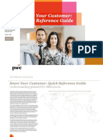 Pwc Anti Money Laundering Know Your Customer Quick Reference Guide