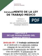 Reglamento de La Ley de Trabajo Medico 8-10