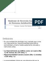 Síndrome de Secreción Inapropiada de Hormona Antidiurética Heidy Aracely Noemi Jacinto Tul.pptx