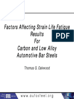 30 - Factors Affecting Strain Life Fatigue Results for Carbon and Low Alloy Automotive Bar Steels