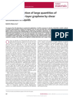 Scalable Production of Large Quantities of Defect-free Few-layer Graphene by Shear Exfoliation in Liquids