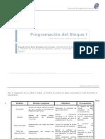 Programación Del Bloque I Lab Alimentos