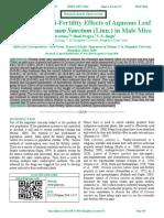 Reversible Anti-Fertility Effects of Aqueous Leaf Extract of Ocimum Sanctum (Linn.) in Male Mice