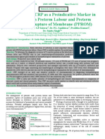 Evaluation of CRP as a Preindicative Marker in Women with Preterm Labour and Preterm                       Prelabour Rupture of Membrane (PPROM)