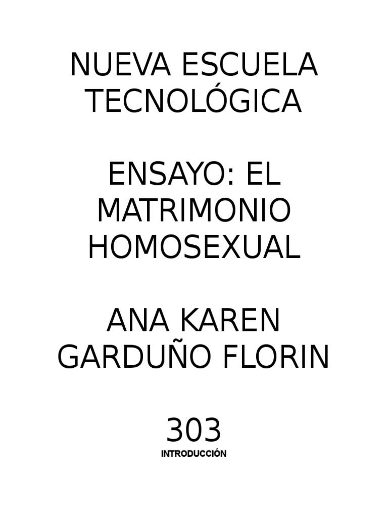 Matrimonio homosexual en chile introduccion