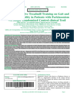Effect of Intensive Treadmill Training on Gait and Functional Mobility in Patients with Parkinsonism –A Simple Randomized Control clinical Trail