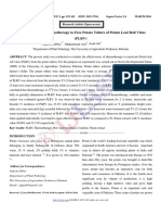 Use of Hot Water-Thermotherapy to Free Potato Tubers of Potato Leaf Roll Virus (PLRV)
