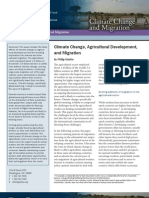 Climate Change, Agricultural Development, and Migration