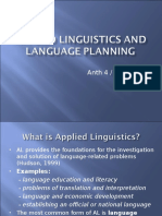 Applied Linguistics and Language Planning ppt