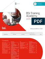 Uk Bsi Training Course Schedule
