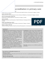 The Status of Accreditation in Primary Care