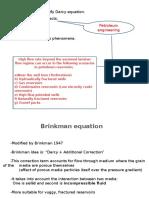 Brinkman Equation