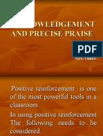 Acknowledgement & Praise