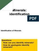 Module 5b - Minerals, Identification