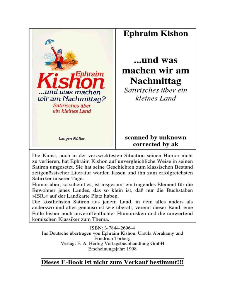 Kishon_Ephraim - ...Und Was Machen Wir Am Nachmittag