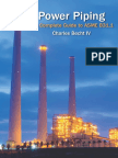 Power Piping the Complete Guide to Asme b31!1!2013 by Charles Becht IV