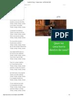 Oração Ao Tempo - Caetano Veloso - LETRAS.mus