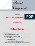 Brands and Brand Management - Lecture 1