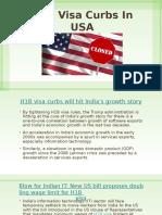 H1B Visa Curbs in USA