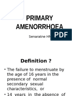 Primary Amenorrhoea 2