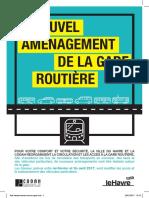 Travaux de réaménagement de la gare routière du Havre