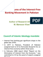 Main Features of the Interest-Free Banking Movement In
