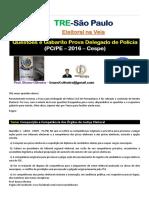 Questões Direito Eleitoral Delegado de Polícia Pernambuco 2016
