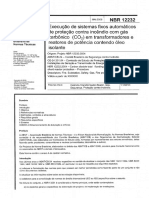 NBR 12232-2005 - Execução de Sistemas Fixos Automáticos de Proteção Contra Incêndio Com Gás Carbônico (CO2) Em Transformadores e Reatores de Potência Contendo Óleo Isolante