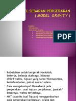 12. Model Sebaran Pergerakan (Gravity)