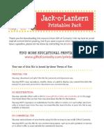 Jack o Lantern Printables Pack