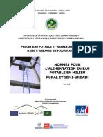 150610 Normes Pour Les Aep Rurales Et Semi Urbaines Mai 2015