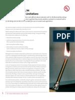 Ul UL94CertificationsAndLimitations